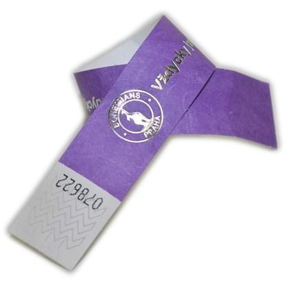 Obrázok pre výrobcu ID náramok Tyvek® 25 mm s metalickou razbou