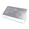 Plastová karta 85x54 mm s potiskem a metalickým povrchem