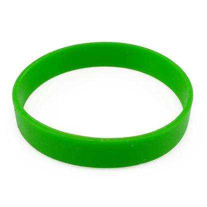 Silikonový náramek bez potisku - zelený