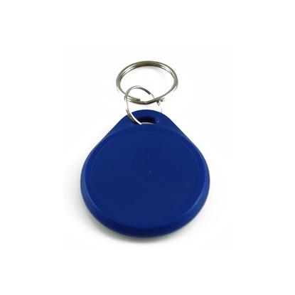 RFID tag / klíčenka kulatá modrá